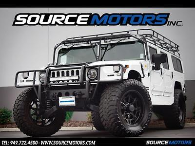"2000 Hummer H1 Base Sport Utility 4-Door 2000 Hummer H1 Wagon, Turbo Diesel, Lifted, Roof Rack, Brush Guard, 22"" Wheels"