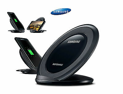 Samsung Galaxy S7 Edge S6 Fast Qi Wireless Charger Pad With Stand Black/White UK