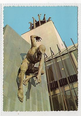 STATUE, CIVIC CENTRE, NEWCASTLE UPON TYNE: Northumberland postcard (C23218)