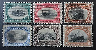Usa Scott #294-299 Used Set Pan American Exposition Issue 1901 Cv $128.50