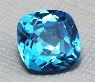 Beautiful Sea Blue Sapphire 4.68Ct Unheated 10Mm Cushion Cut Vvs Loose Gemstone