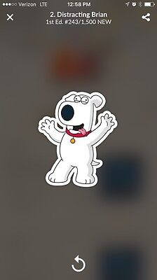 Quidd Family Guy: Road To Stickers Part 1 Distracting Brian Digital Insert cZ