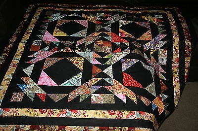"""Hand Made Quilt """"TAINTED LOVE"""" Design by Quilt-Addicts 50"""" square"""