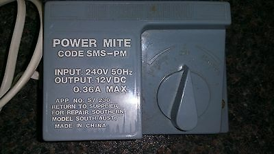 Southern Model Power Mite Code SMS-PM Adjustable +/-12VDC/AC Model Train Control