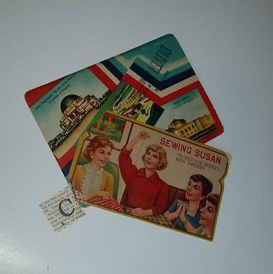 C Vintage advertising sewing needle book lot with needles threader cards case
