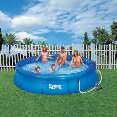 """Bestway 12' x 30"""" Round Fast Set Inflatable Paddling/Swimming Pool"""