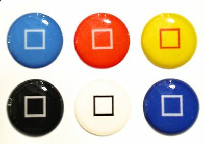 6pcs Home Button Sticker Square Home Buttons for iPhone 5/4/3 Apple