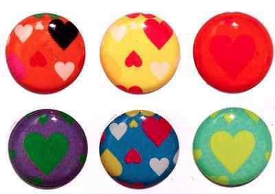 6pcs Home Button Sticker Hearts for iPhone 5/4/3 Apple