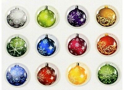 12 Pieces 3D Ornament Home Button Stickers Decals Semi-circular iPhone