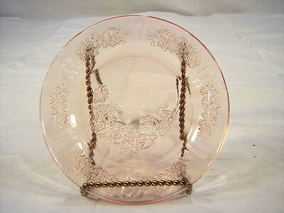 Sharon Pink Pattern Federal Glass Saucer #1