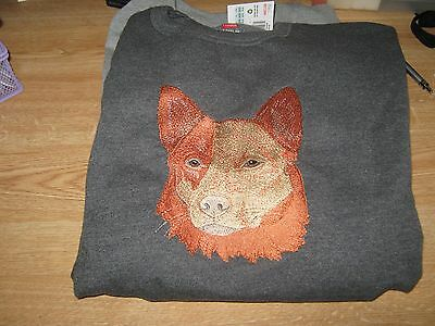 New Australian Cattle Dog Embroidered Sweatshirt