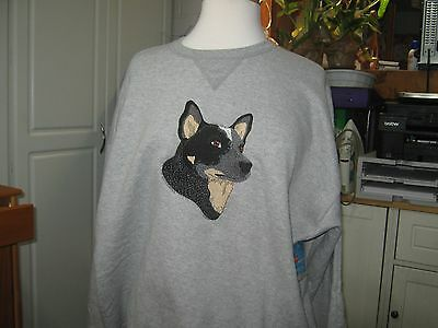 New  Australian Cattle Dog Embroidered Sweatshirt Add Name For Free