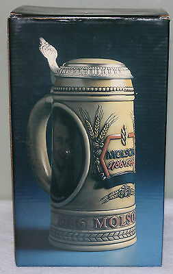 Molson 1986 Lidded Beer Stein Commemorating 200th Anniversary -- French