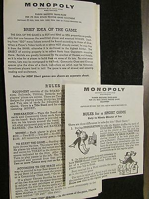 Game Monopoly Rules And History Booklet 999 Picclick