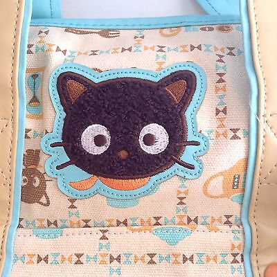 Vintage Sanrio CHOCOCAT Canvas Purse Tea And Coffee New With Tags Tan Turquoise