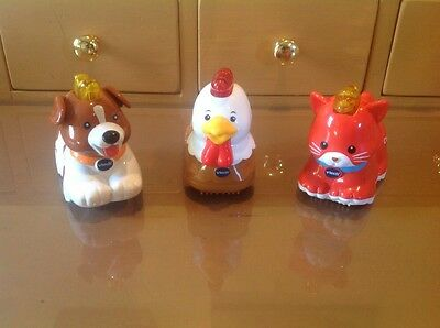 LOT of3 VTECH GO GO SMART ANIMALS,DOG,ROOSTER,CAT,,Talking Zoo
