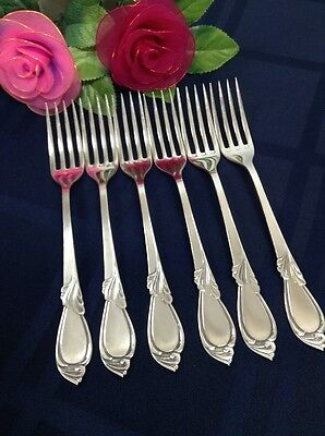 Vintage European Sterling Silver 800 Warsaw Poland Set Of 6 Forks 241g Flatware