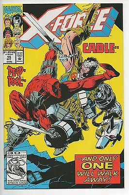 X-FORCE #15  (1992) DEADPOOL vs. CABLE