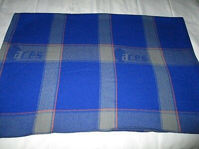 vintage ACES COLOMBIA Airline blanket travel cabin throw DEFUNCT