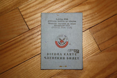 USSR Latvia Water Rescue Service Membership Document 1981 With Stamp