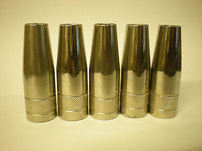 Mb15 Tapered Mig Nozzle / Shroud Push Fit X 5