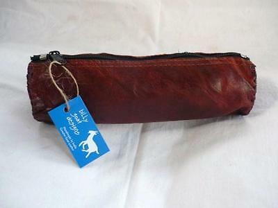 Handmade Goat Leather Pencil Case Wallet Pouch WPC Art Draw Billy Goat Designs