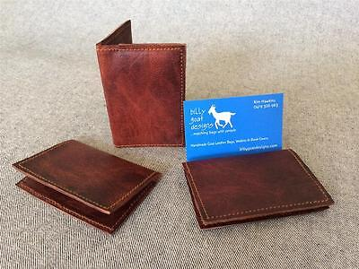 Leather wallet credit business card WCC Handmade Goat Billy Goat Designs