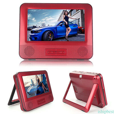 "2x Car Headrest Monitor DVD Player 7.8"" Digital Screen Game DVD/USB/SD/IR/FM New"