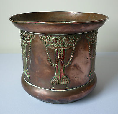 """Vintage Beldray arts and crafts copper pot planter 7 1/2"""""""" tall"""