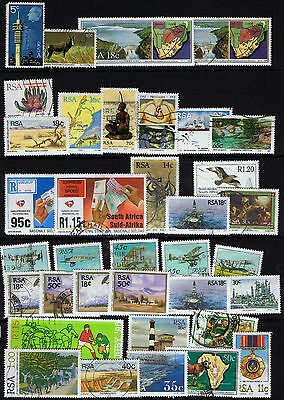 South Africa 70+ Stamps - Used & MH - mostly latter 20th Century