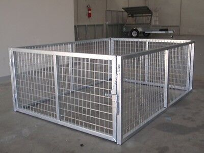 8x5 trailer Cage 800mm High Galvanised With Front & Rear Opening Doors