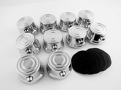 10 Single End Tom Drum Lugs without Mounting Screws