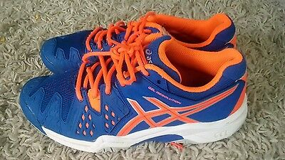 Asics Gel-Resolution  Blue Size Uk 4,5 Ladies Tennis Shoes