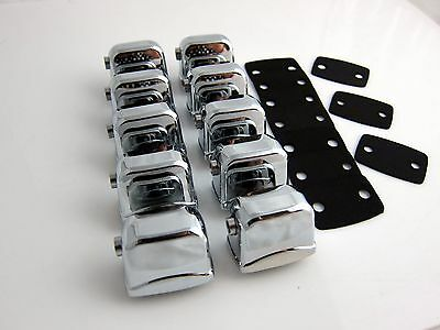 10 Single Ended Tom / Bass Drum Lugs without Mounting Screws