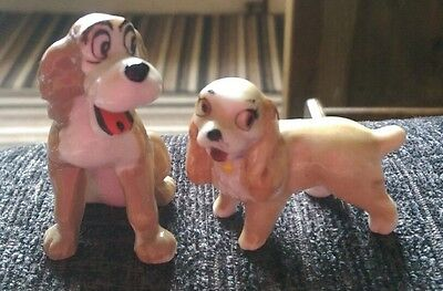 #BARGAIN##Wade Pottery Walt Disney's Lady and the Tramp Dog Figures   @#