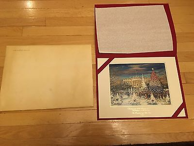1992 Official Large White House Christmas Card - President George HW. Bush