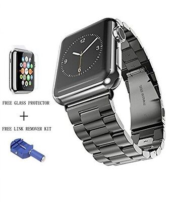 HOCO Apple Watch Band,Solid Stainless Steel Metal Apple Watch Strap