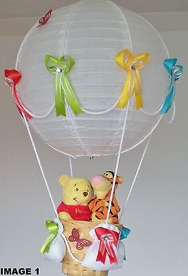 2WINNIE THE POOH AND TIGGER in hot Air Balloon Lamp-light Shade for Baby Nursery