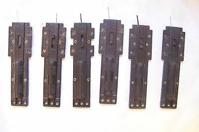 (184) Ho Scale Lot Of 6 Manual Turnout Machine Switches. Universal Left Or Rt.