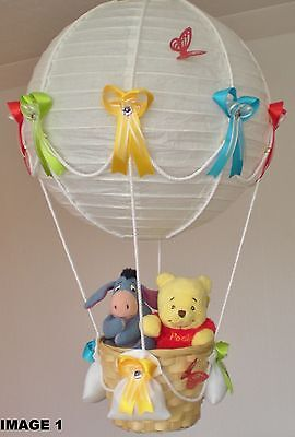 WINNIE THE POOH AND EEYORE in hot Air Balloon Lamp-light Shade for Baby Nursery