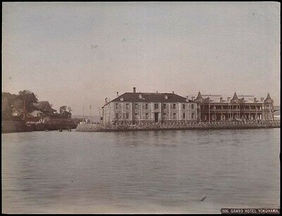 Japan  Original-Photographie koloriert   Grand Hotel Yokohama  um 1900