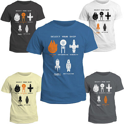 T Shirt | Select Your Ship Tee Top | Movie | Geek | Birthday Gift | Sci Fi
