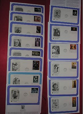 STAR WARS 2007 - 14 US First Day Covers & Info Cards
