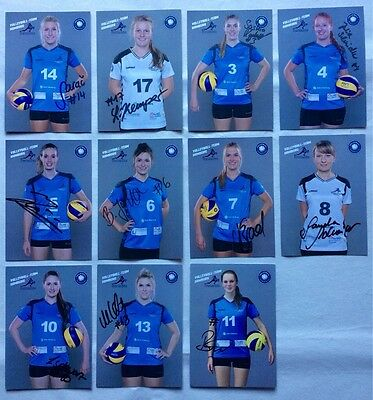 Volleyball Team Hamburg 2016-17 Autogrammkarten Satz 11 orig. sign AK Autogramme