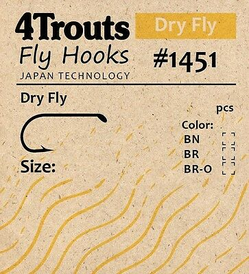 DRY FLY HOOKS 100 pcs/pack #12 #16 #10 fly tying 4Trouts-1451 Free WW Postage