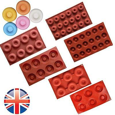 *UK Seller* Silicone Donut Circle Mould Chocolate Sweet Ice Tray Cake Baking