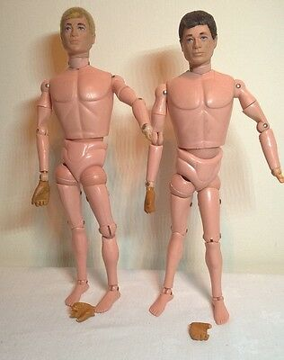 2 x Vintage Palitoy 1970s Action Man Figure