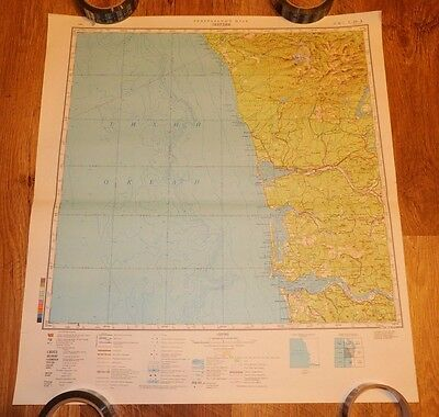Authentic Soviet USSR Army Military Topographic Map Aberdeen, Washington, USA