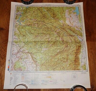 Authentic Soviet USSR Army Military Topographic Map Coeur d'Alene, Idaho USA #77