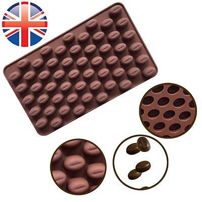 *UK Seller* Silicone Chocolate Coffee Beans Mould Candy Cake Sweets 55 Cavity